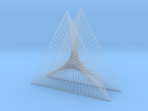 Shape Wired Parabolic Curve Art Triangle Base V1 in Smooth Fine Detail Plastic