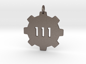 vault 111 pendant  in Polished Bronzed Silver Steel