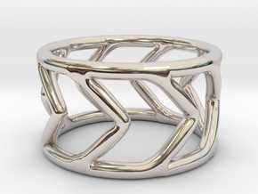 Ring Arrow in Rhodium Plated Brass