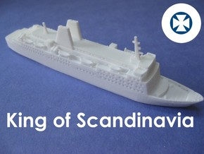 MS King Of Scandinavia (1:1200) in White Natural Versatile Plastic