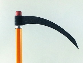 Pencil Scythe in Black Strong & Flexible
