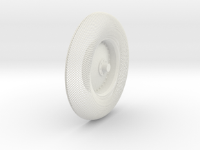 B-LRV wheel : outer mesh & hub in White Natural Versatile Plastic