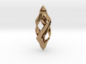 Twisted in Polished Brass