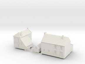 1:285-French Houses X2 in White Strong & Flexible