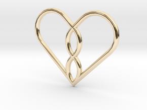 Infinity Heart Pendant Mini in 14K Yellow Gold