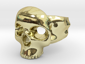 Skull Ring in 18k Gold Plated Brass