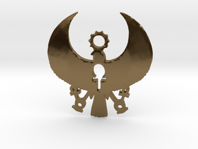 Heru Pendant: 3 Keys of Life in Polished Bronze