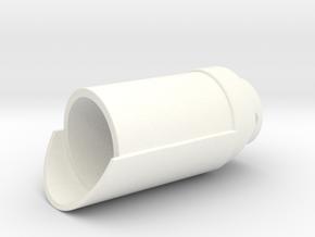 KR Exhaust Port V5 in White Processed Versatile Plastic