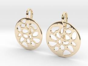 PIERCED EARRINGS in 14k Gold Plated Brass
