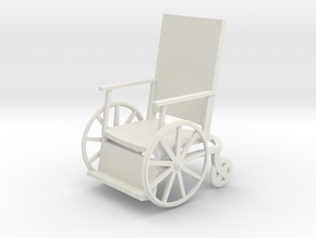 1:24 Vintage Wheelchair in White Natural Versatile Plastic