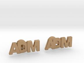 Monogram Cufflinks ADM in Polished Brass