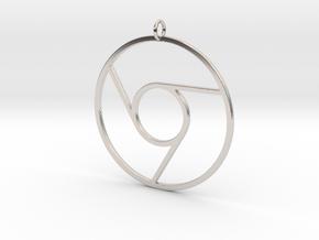 Google Chrome Pendant in Platinum