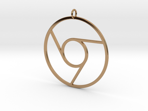 Google Chrome Pendant in Polished Brass