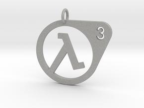Half Life 3 Confirmed Pendant in Aluminum