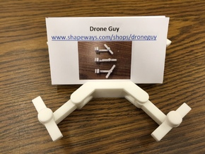 Folding Drone Business Card Holder in White Processed Versatile Plastic