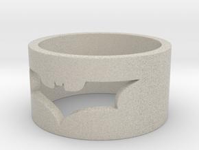 Batman Ring Size 10 in Natural Sandstone