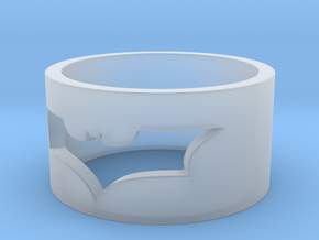 Batman Ring Size 10 in Smooth Fine Detail Plastic