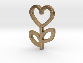 Love Rose Pendant - Amour Collection in Polished Gold Steel