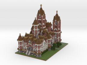 Minecraft Victorian Mansion in Full Color Sandstone