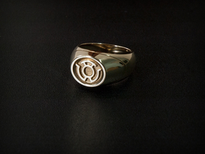 Yellow Lantern Ring in Polished Brass