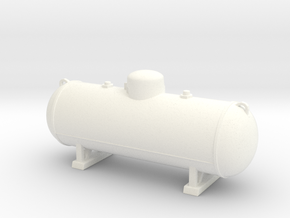 Propane tank 500 gallon. 1:24 Scale  in White Strong & Flexible Polished