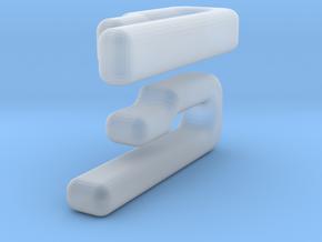 Collar Cuffs Blank in Smooth Fine Detail Plastic