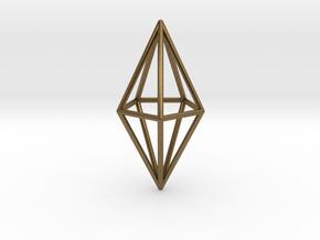 Pendant 'Crystal' in Natural Bronze