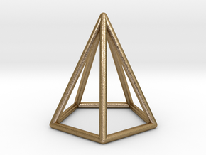 Pyramid Pendant in Polished Gold Steel