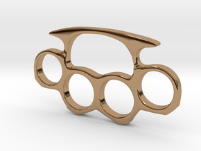 Brass Knuckles Miniature in Polished Brass