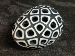 Mosaic Egg #4 in Full Color Sandstone