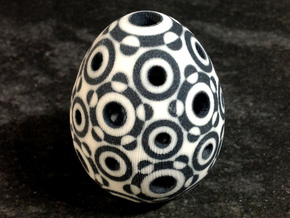 Mosaic Egg #8 in Aluminum