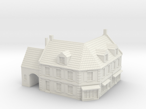 1:285 Corner House 1 in White Natural Versatile Plastic