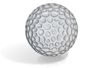 DRAW geo - sphere alien egg golf ball in White Natural Versatile Plastic: Small