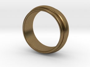 Ø 19.62 Mm Classic Beauty Ring Ø 0.772 Inch in Natural Bronze