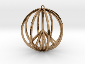 Global Peace Pendant deSign in Polished Brass