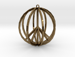 Global Peace Pendant deSign in Polished Bronze