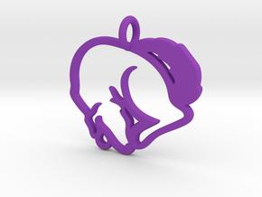 Puppy Love Pendant in Purple Processed Versatile Plastic