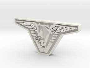Atlantis Badge in White Natural Versatile Plastic