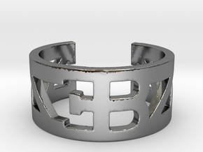 Bugatti Ring Size 10 in Fine Detail Polished Silver