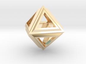 Octahedron Frame Pendant V2 in 14K Yellow Gold