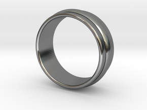 Ø 15.7mm Classic Beauty Ring Ø .618 Inch in Fine Detail Polished Silver