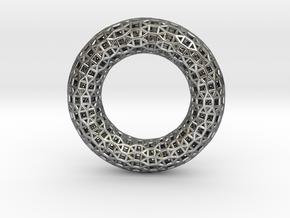 0480 Tilings [3,3,3,4,4] on Torus in Fine Detail Polished Silver