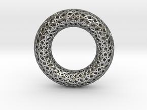 0481 Tilings [3,3,4,3,4] on Torus in Fine Detail Polished Silver
