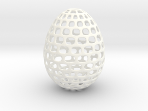 Running - Decorative Egg - 2.3 inches in White Processed Versatile Plastic