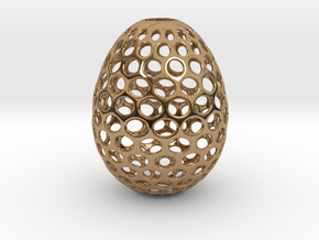 Aerate - Decorative Egg - 2.2 inches in Polished Brass