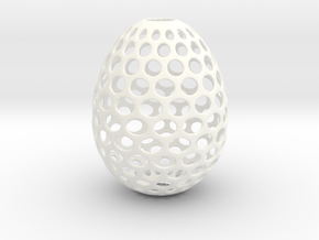 Aerate - Decorative Egg - 2.2 inches in White Processed Versatile Plastic