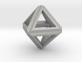 Octahedron Frame Pendant V1 Small in Aluminum