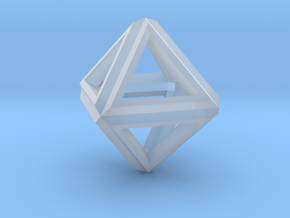 Octahedron Frame Pendant V1 Small in Smooth Fine Detail Plastic