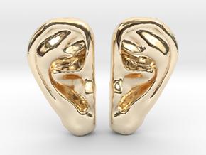 Ear Stud Earrings in 14K Yellow Gold