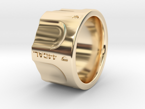 Revolver Ring Size 9 3/4 in 14k Gold Plated Brass